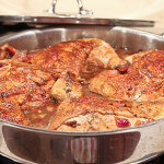 Chicken Legs Braised in Spanish Pomegranate Vinegar Sauce