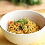 Split Pea Khichari with Dill and Tomatoes