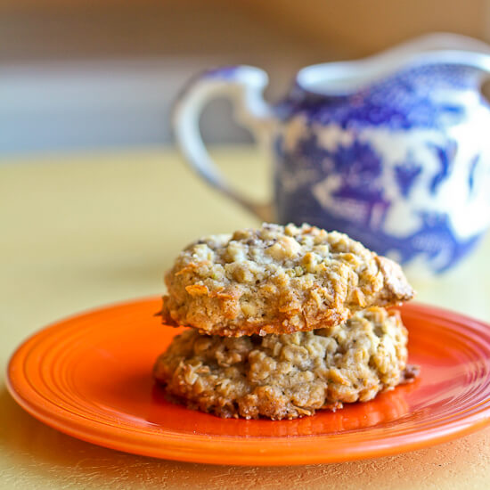 Coconut Lime Cookies with Oats and White Chocolate