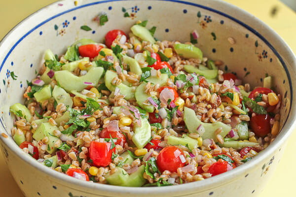 Farro Salad with Bacon, Tomatoes and Lemon