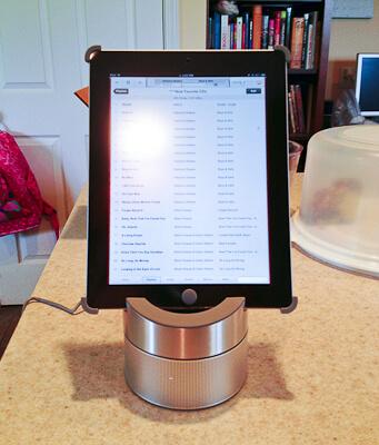 Williams Sonoma iPad holder/speaker/splatter screen