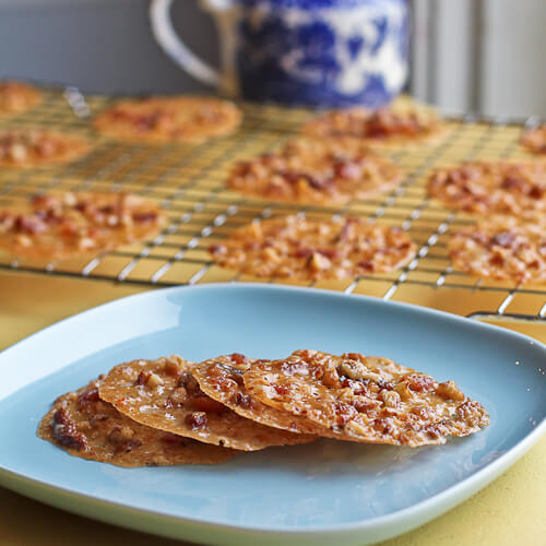 Bacon Pecan Lace Cookies