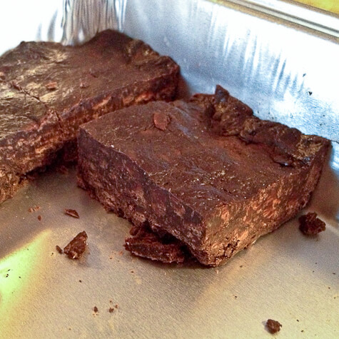 Bakeless Mint Chocolate brownies