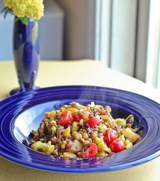 Corn and Potato Hash with indian Flavors