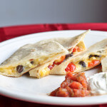 Quesadillas with Black Beans, Corn and Tomatoes