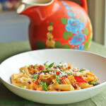 Penne with Cantaloupe, Bacon and Parmigiano-Reggiano