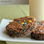 M&M, CHocolate Chip and Oat Brownies