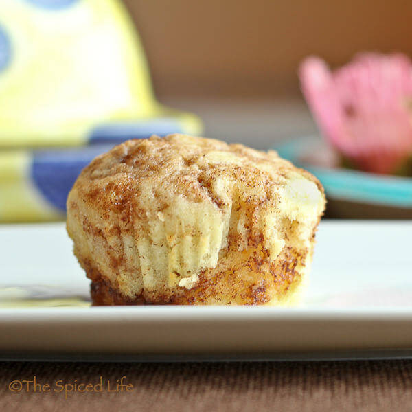 Vanilla Muffins Swirled with Cinnamon Brown Sugar