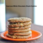Espresso White Chocolate Chunk Cookies: #ChocolateParty