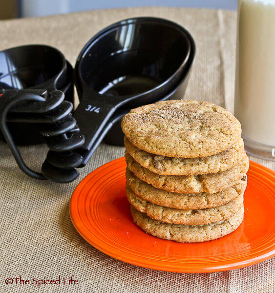 Maple Snickerdoodles with OXO dry measuring cups