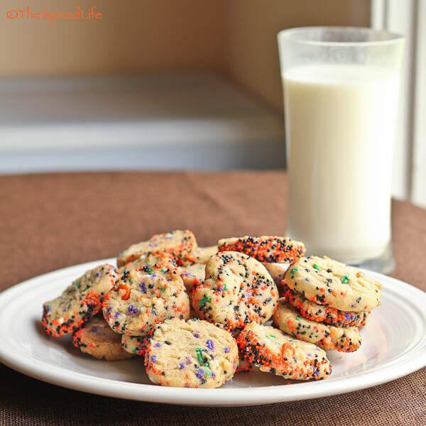 Halloween Sprinkled Refrigerator Cookies