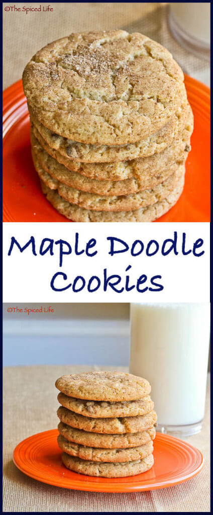 Maple Doodle Cookies! Thick, chewy snickerdoodles sweetened with maple syrup