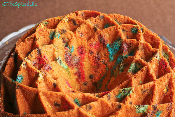 M&M Cream Cheese Bundt Cake