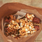 Caramel Glazed Popcorn with Mini Kit Kats