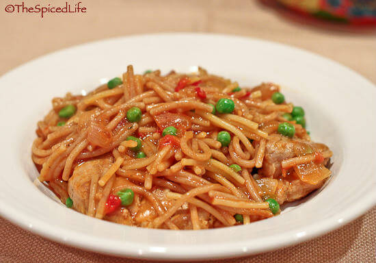 Spanish Pork and Fideo Cazuela