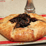 Butternut Squash and Goat Cheese Galette with Caramelized Onions and Crimini Mushrooms
