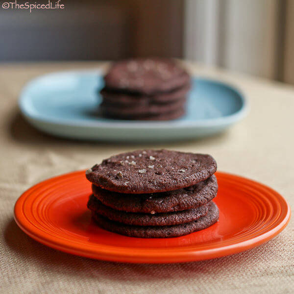 Salty Dark Chocolate Crispy Slice and Bake Freezer Cookies