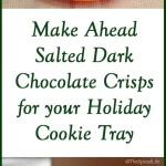 Salty Dark Chocolate Crisps-- Slice and Bake Freezer Cookies --make ahead and get started on Holiday baking now!!!!!