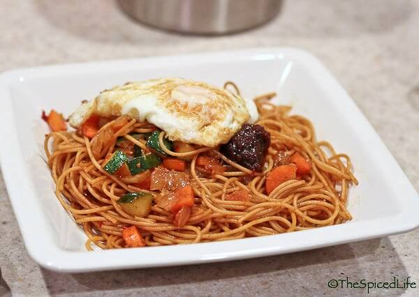 Stir Fried Noodles with Nam Prik Pao