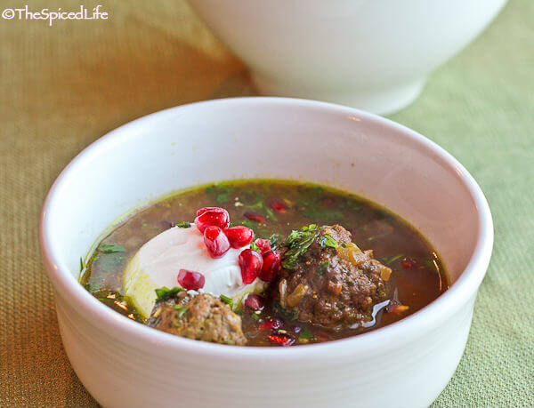 Ash-e Anar (Persian Pomegranate Soup with Meatballs) - The ... Persian Pomegranate Soup