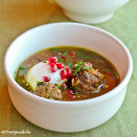 Persian Pomegranate Soup with Meatballs (Ash-e Anar)