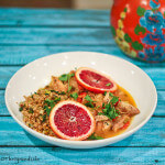 Slow Cooker Chicken Thighs in Blood Oranges, Sherry and Spices