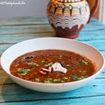 Slow Cooker Mexican Bean Soup with Beer and Bacon (Drunken Soup!)