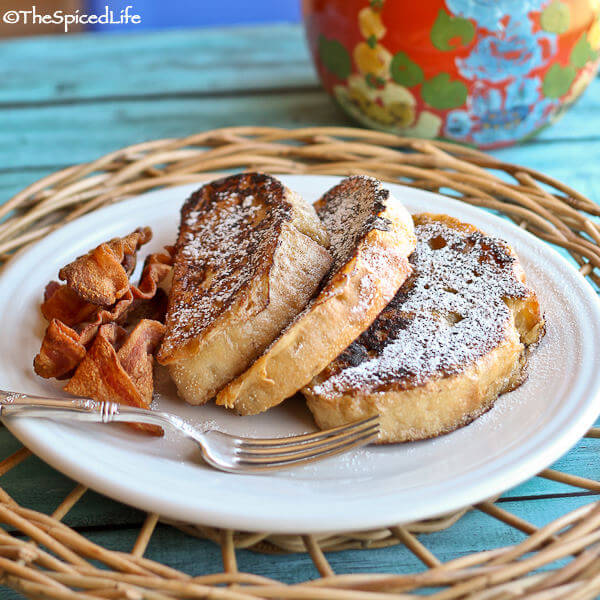 Pain Perdu with Irish Whiskey (Creole French Toast)