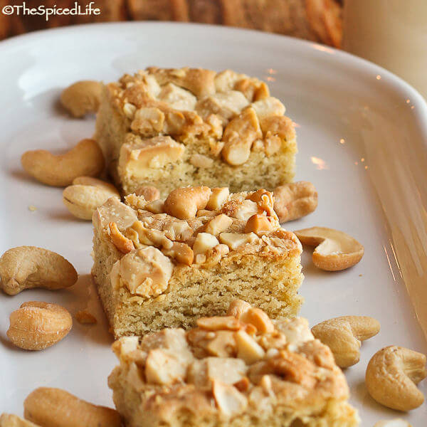 Salty Sweet White Chocolate and Cashew Bars