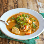 Moqueca: Brazilian Seafood Stew of Mahi Mahi, Pacific Cod and Shrimp