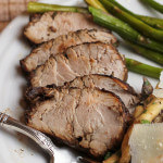 Roasted Pork Tenderloin in a Mustard Balsamic Marinade