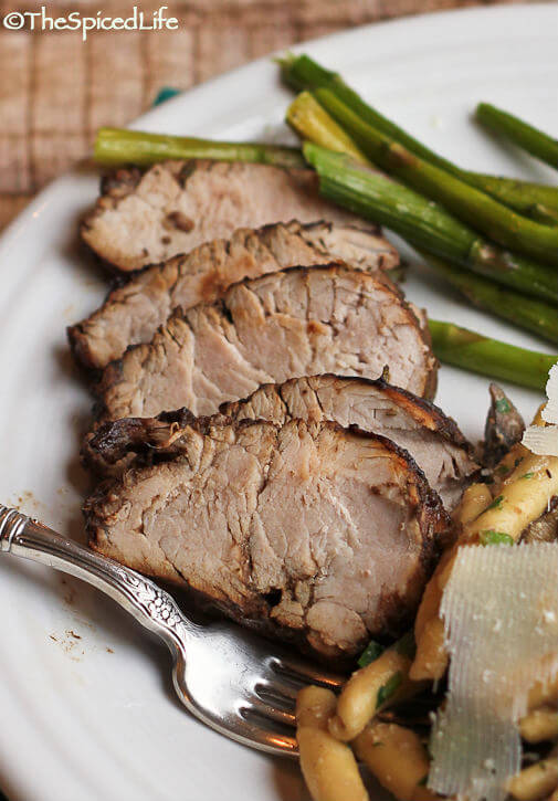Roasted Pork Tenderloin in a Rosemary Mustard Balsamic Marinade