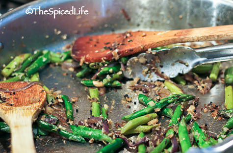 Indian Stir Fried Asparagus with Ginger #GlutenFree