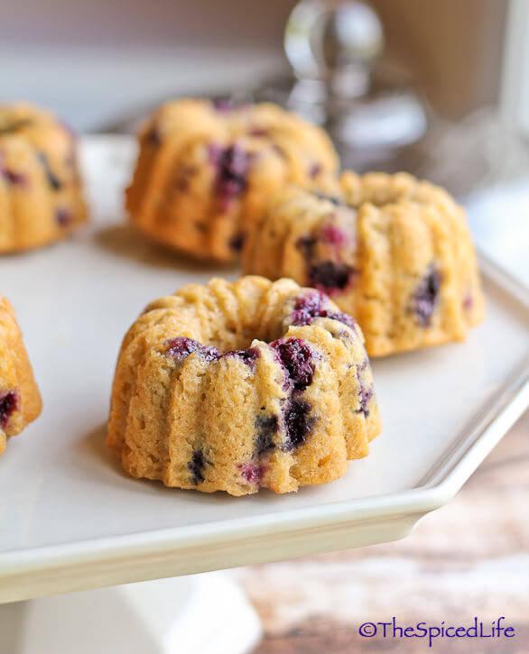 Whole Grain Breakfast Blueberry Bundtlette