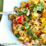 Mango Chaat with Pumpkin Seeds: a crunchy, crispy, sweet and sour indian snack salad