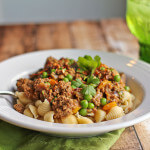 Pasta with Spice-Infused Ground Lamb  and Green Peas: Review of Spices and Seasons