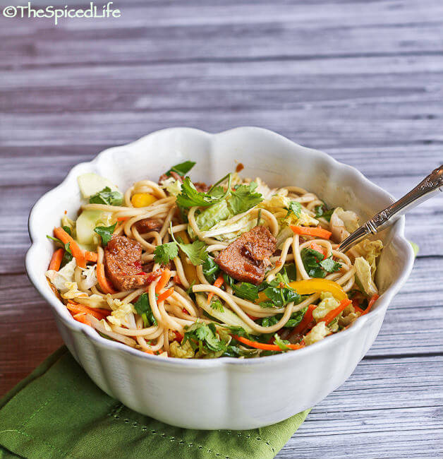 Asian Pork Noodle Salad--using the slow cooker!
