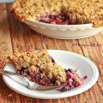 Blueberry lemon Crumble Pie: You will not believe how EASY this pie crust is!!!!