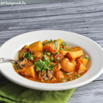 Potato Curry with Peas and Mushrooms; Review of Silk Road Vegetarian