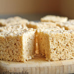 Rice Krispy Treats made with Browned Butter and Vanilla Salt