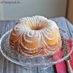Greek Paxos Inspired Cake with a Stewed Plum Infused Swirl