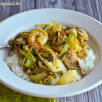 Thai Shrimp And Mushroom Curry Stir Fry: Review of Simple Thai Cooking