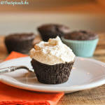 Individual Chocolate Teacakes Topped with Whipped Cream