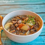 Chicken & Wild Rice Soup with Mushrooms