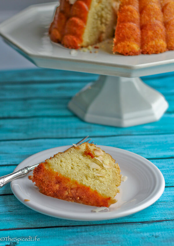 Coconut Oil Pound Cake with Flaked Coconut Glaze