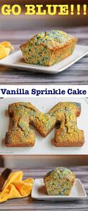 Vanilla Sprinkle Block M Cake