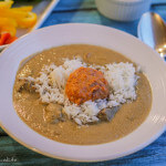 Indonesian Coconut Beef Soup with Carrots and Sambal; Review of In Her Kitchen
