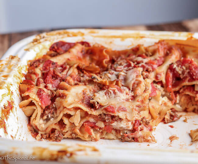 Skinny Lasagna: Basic lasagna recipe that has been slimmed down--and is also a great template for changing it your whim!