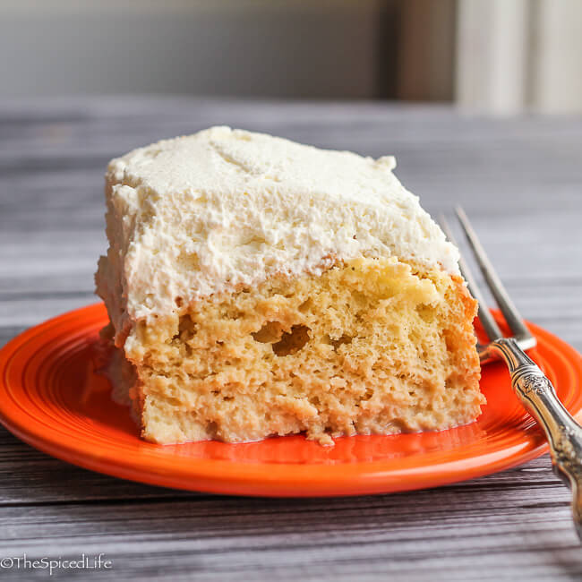 Tres Leches Cake with a hint of Kahlua