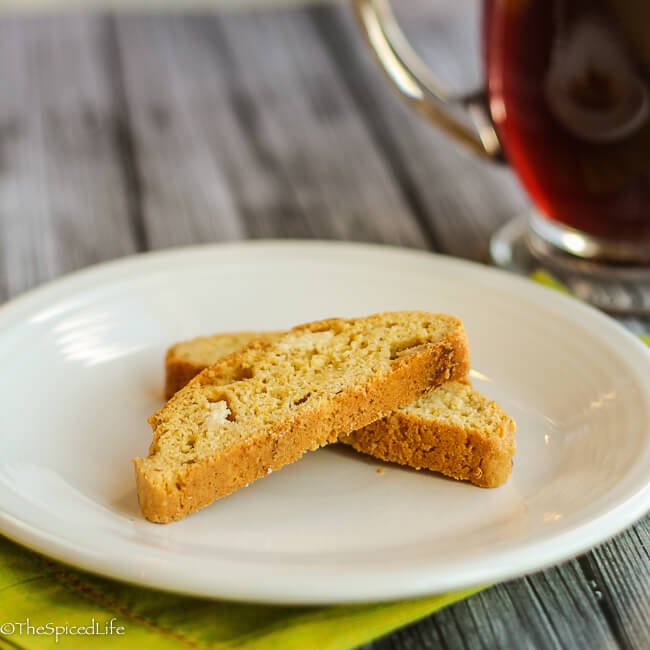 Citrus Olive Oil Biscotti with White Chocolate Chunks